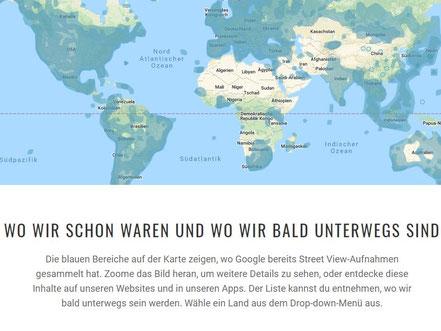 Google veröffentlicht, welche Städte wann fotografiert werden