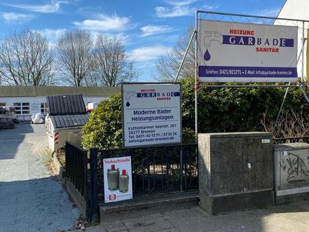 Heizung, Sanitär, Bäder, Rohrreinigung und Propangasverkauf an der Kattenturmer Heerstraße in Bremen-Kattenturm
