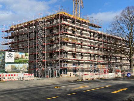 6-stöckige Bebauung Gartenstadt Werdersee (Foto 02/2020)