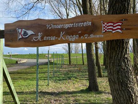 "Holzschild ""Wassersportverein Hanse-Kogge"" e. V. Bremen"