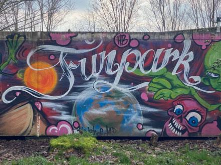 Graffiti auf der Anlage des Funpark Bremen in Bremen Kattenturm