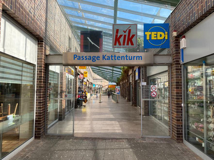 Eingang der Passage Kattenturm, Gorsemannstraße in 28277 Bremen
