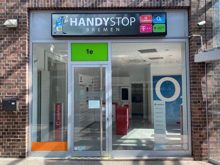 HandyStop - Mobilfunkladen in der Passage Kattenturm (Bremen Obervieland, Kattenturm-Mitte) - Standort geschossen in 05-2020
