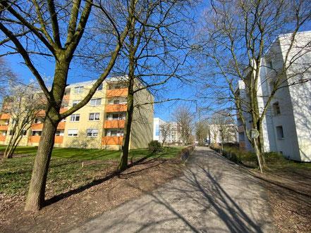 Wohnanlage an der Alfred-Faust-Straße in Bremen Kattenturm (Foto: Jens Schmidt, 05.03.2020)