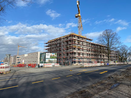Ansicht von der Habenhauser Landstraße Gartenstadt Werdersee (Foto 02/2020)