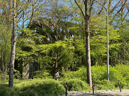 Hochbunker Krumme Schinkel in Bremen-Kattenturm, Bremen Obervieland (Foto: 04-2020, Jens Schmidt)