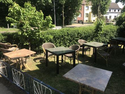 Sommergarten der Taverna Hippokrates