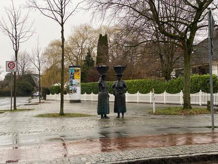 Arster Marktfrauen im Regen (Foto: 02-2020, Jens Schmidt)
