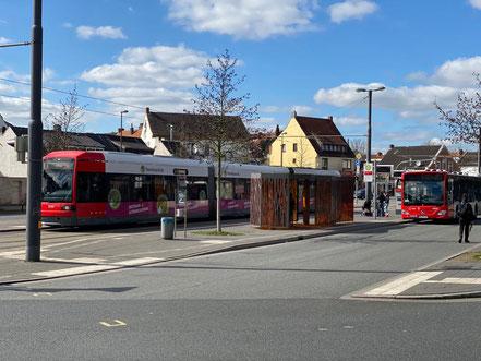 32 Fahrgäste saßen 1988 in dem entführten Linienbus der Linie 53 in Bremen-Huckelriede (Foto 03-2020, Jens Schmidt)
