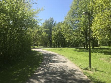 Zuwegung aus Richtung Bordwardstraße zum Krimpelsee in Bremen-Habenhausen