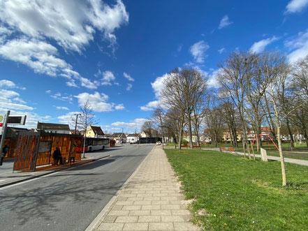 An dieser Stelle in Bremen-Huckelriede wurde 1988 der Bus der Linie 53 entführt (Foto 03-2020, Jens Schmidt)