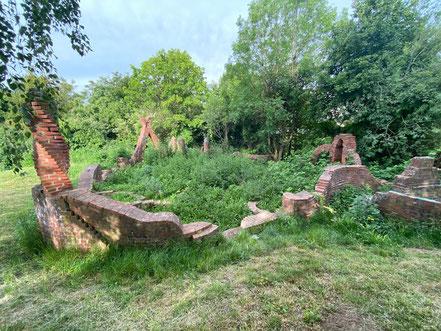 Steingarten - Stadtgrundriss, Skulptur in Bremen-Kattenturm, Bremen Obervieland (Foto: 05-2020, Jens Schmidt)