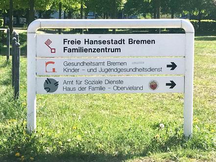 Das Amt für Soziale Dienste der Stadt Bremen betreibt in ganz Bremen mehrere Häuser der Familie, darunter eines in Kattenturm-Mitte (Haus der Familie Obervieland) (Foto: 05-2018, Jens Schmidt)
