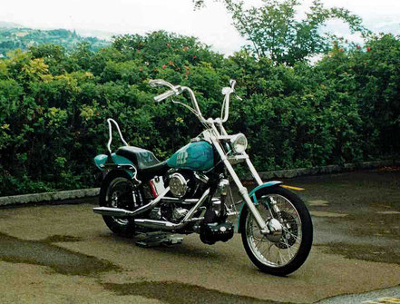 Motorradreisen Bild einer Harley Davidson