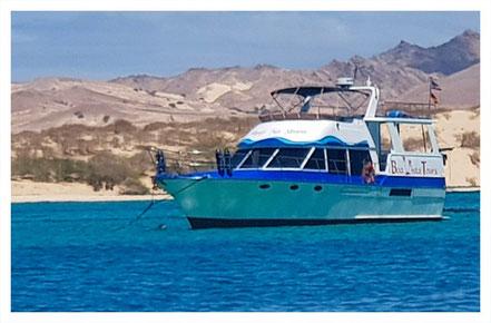 Motoryacht Simply No Stress vor der Küste Boa Vistas