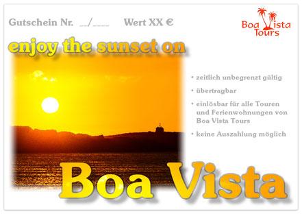 Gutschein  enjoy the sunset Boa Vista mit Sonnenuntergang angeboten von Boa Vista Tours