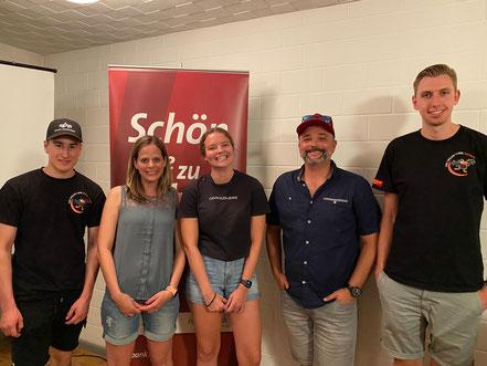 Tobias Fischer, Janine Skok, Svenja Vogel, Mathias Küng und Jonas Berger werden ins Vorchräi-Jahr gewählt.