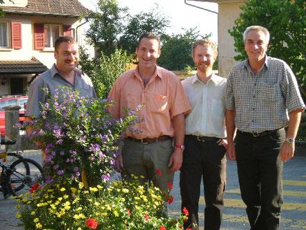 Die Gründer: Franz Fischer, Urs Fischer, Dieter Kölliker und Paul Schöni.