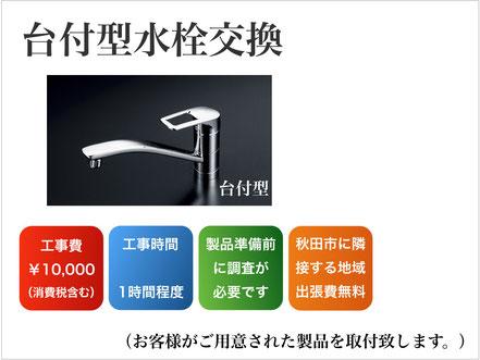 台付型水栓の交換