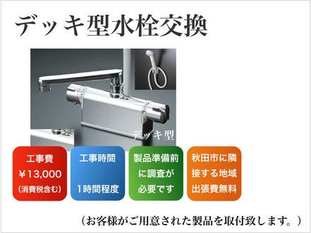 デッキ型水栓の交換