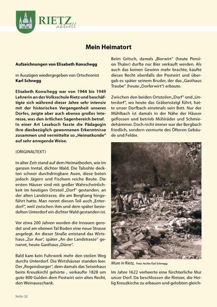 Gemeinde Rietz, Tirol - Chronik Muren