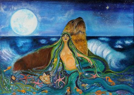 Paz Treuquil, Sumpall, Shumpall, mitología mapuche, sirena, mitología marina