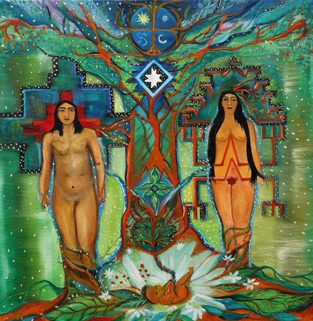 Paz Treuquil (2020), 50x50 cm.