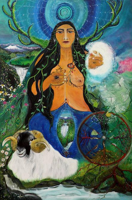 Paz Treuquil, lawen , wangelen, estrella, llallin ,  abuela araña , tejedora mapuche, diosa mari, Ahari, Anbotoko dama, anbotoko mari, sorgin, sorginak, rueda del año, mitologia vasca, Ama Lur