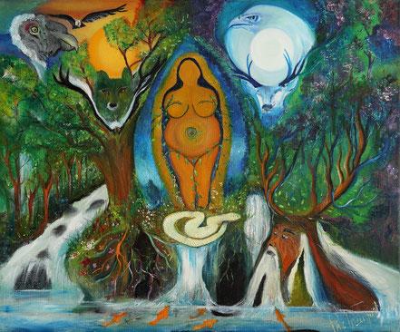 Animismo, bosque sagrado, espiritus de la naturaleza