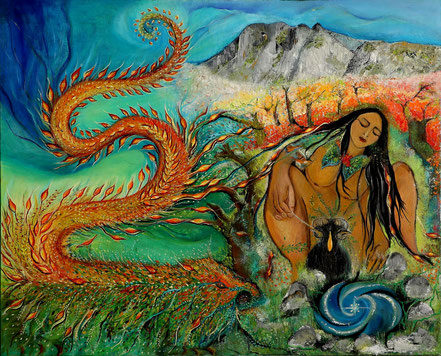 Paz Treuquil (2020), 80x100 cm.