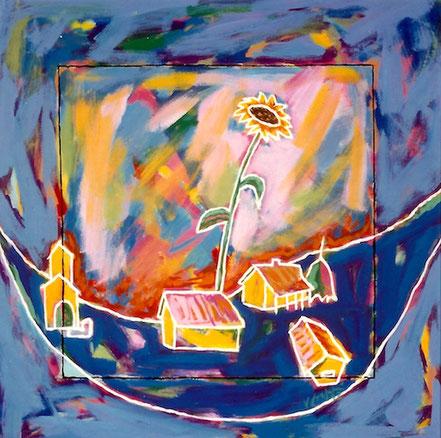 Vlado Franjevic: Blumental, Acryl auf Leinwand, 70x70