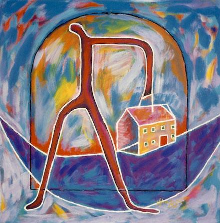 Vlado Franjevic: Der Dieb, Acryl auf Leinwand, 70x70