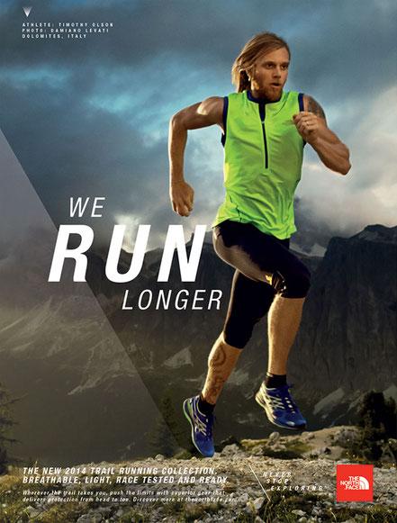 We Run Longer campaign - magazine advertising