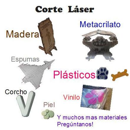 Corte laser en multitud de materiales, madera, plasticos, metacrilato, tu proyecto personalizado