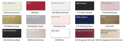 Farbauswahl für Kuverts 250g/m²