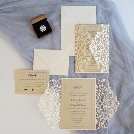 Lasercut Karte Hochzeitskarten Einladungskarten