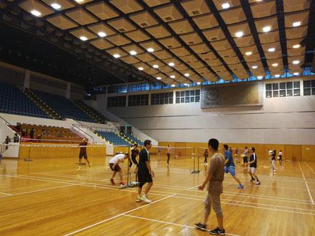 華東師範大学の体育館   夏は案外ひんやりして涼しいです