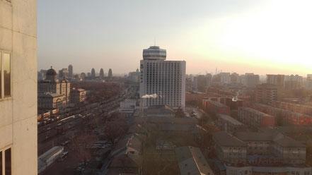 北京語言大学 北京ニッコーホテルからの眺め