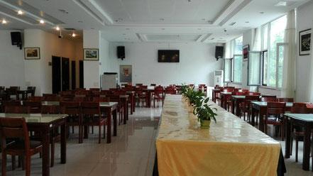 中国 大連外国語大学 学生食堂 国際文化交流センター