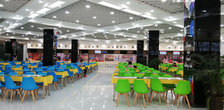 大連外国語大学の学生食堂