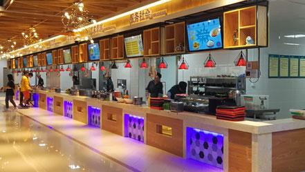 中国 留学 大連 中国語 大連外国語大学 シニア留学 HSK合格 夏期講座 学生食堂