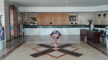 遼寧師範大学 学生寮5号楼のロビー
