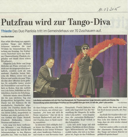 Putzfrau wird zur Tango-Diva