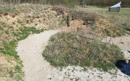 Sandfläche nach der Bearbeitung