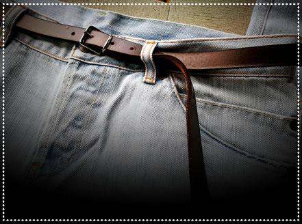 cintura in cuoio fina