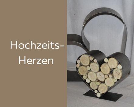 Herzen aus Stahl und Rost, Geschenk zur Hochzeit