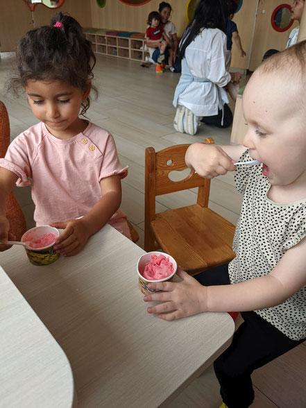 Ich liebe Erdbeer-Eis