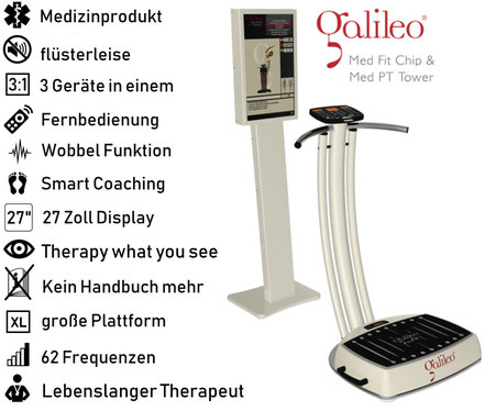 Vibrationsplatte Galileo Med Fit Chip & Med PT. Test, Vertrieb, Preis, Kosten, Preise: www.kaiserpower.com