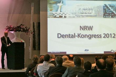 Ztm.Thomas Hahne Vizepräsident des Zahntechniker Arbeitskreis Düsseldorf eröffnete den NRW-Dentalkongress 2012