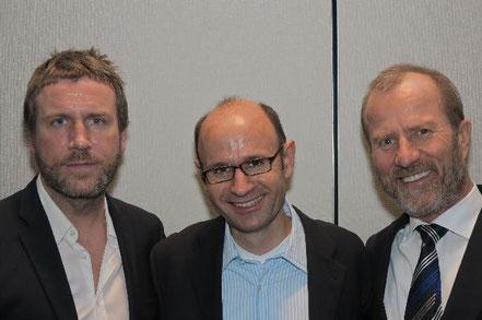 Ztm. Andreas Nolte, Ztm.Joachim Maier, Und Dr. Jochen Mellinghoff (v.l.) stellten sich nach ihren Vorträgen gemeinsam den Fragen des Publikums
